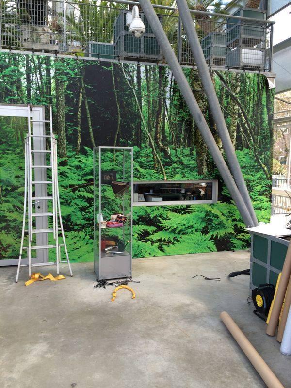 Planten uit de Oertijd muurdoek Studio Kaboem!
