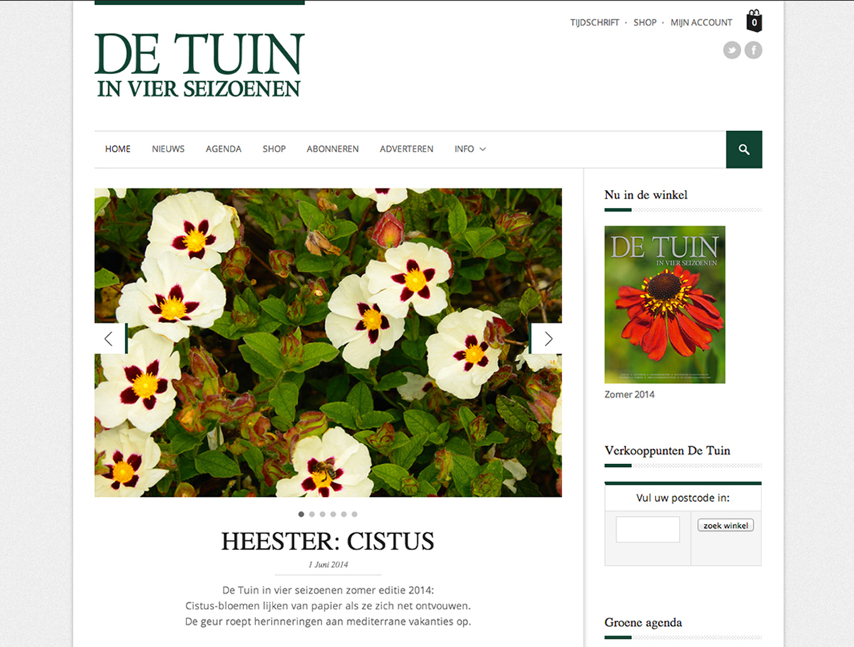 De Tuin in vier seizoenen website Studio Kaboem!