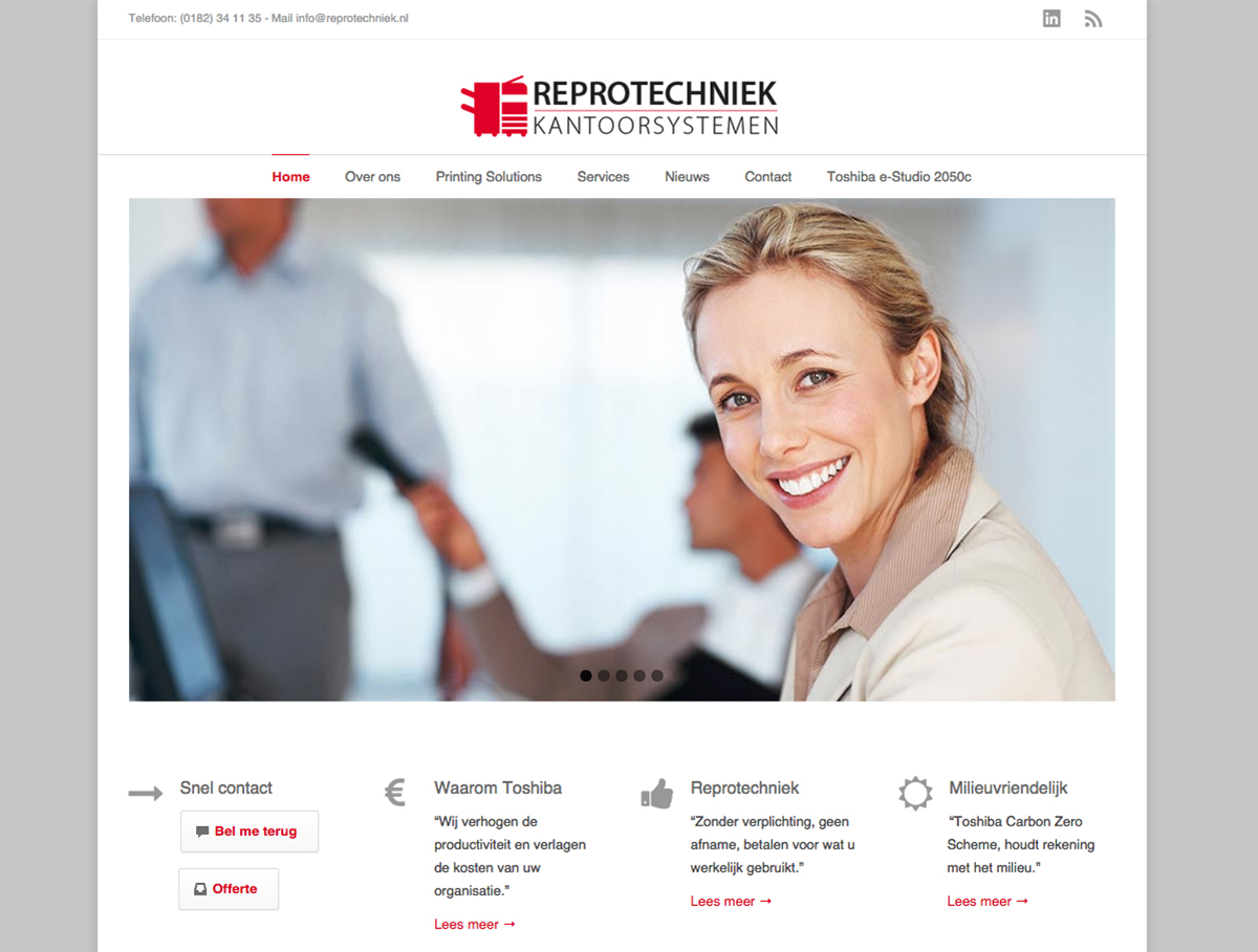 Reprotechniek website studio kaboem