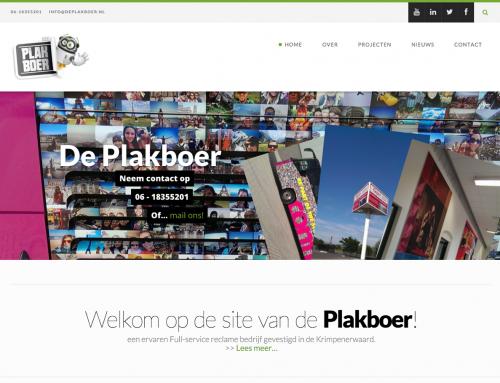 Website De Plakboer