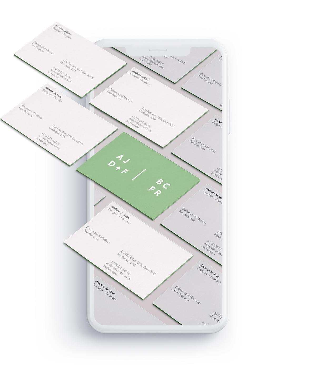 Studio Kaboem iPhone Xs visitekaartje