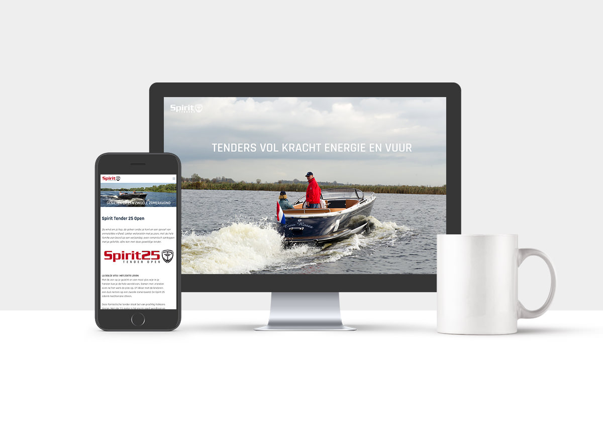 Spirit Tenders website Studio Kaboem