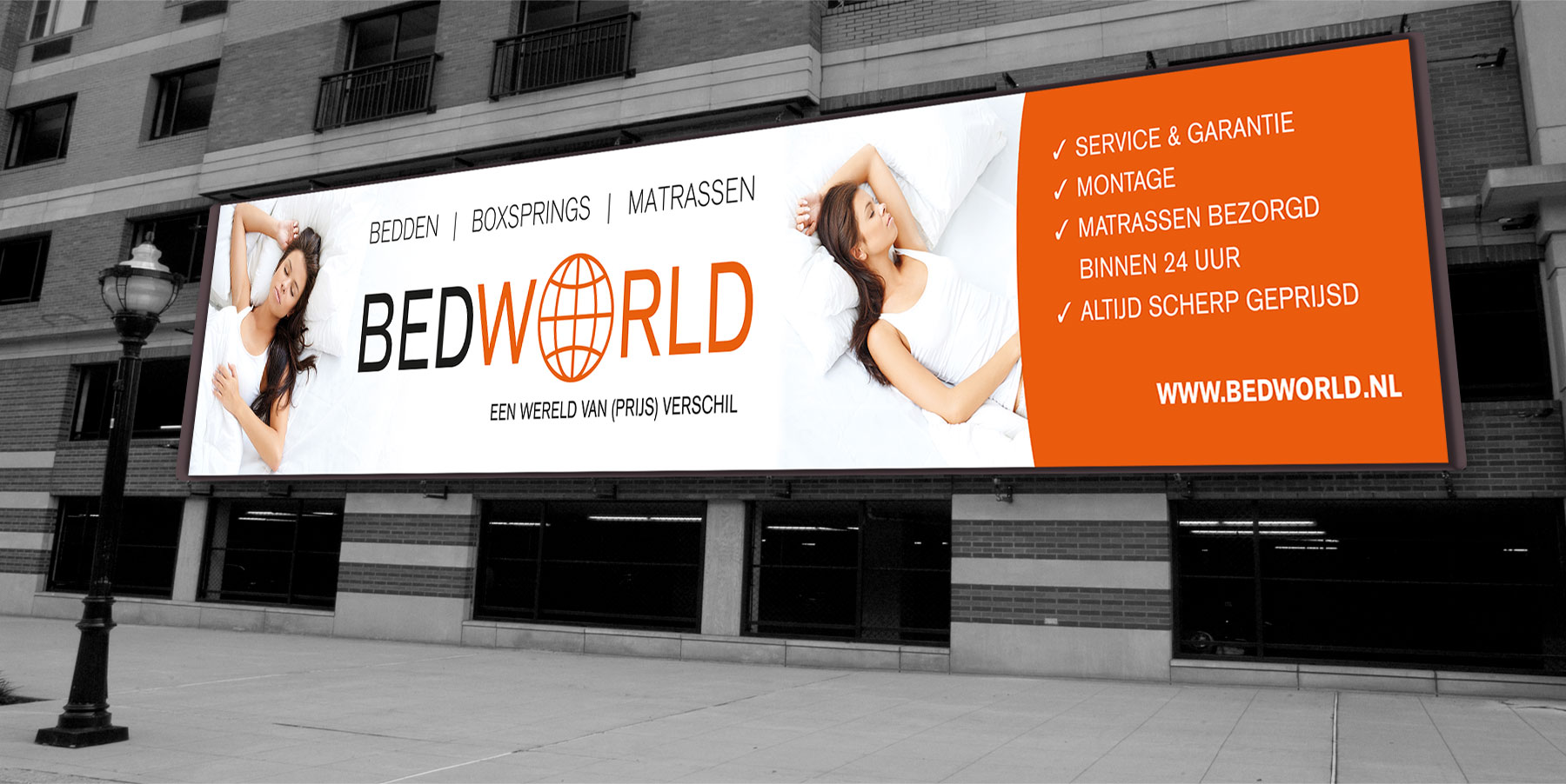 BedWorld Amsterdam, Bedworld, Studio Kaboem!, Zoetemelk Media Services, Bannier 20 meter,
