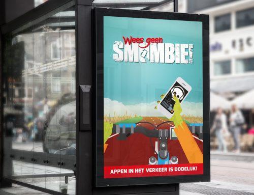 Wees geen Smombie poster/abri