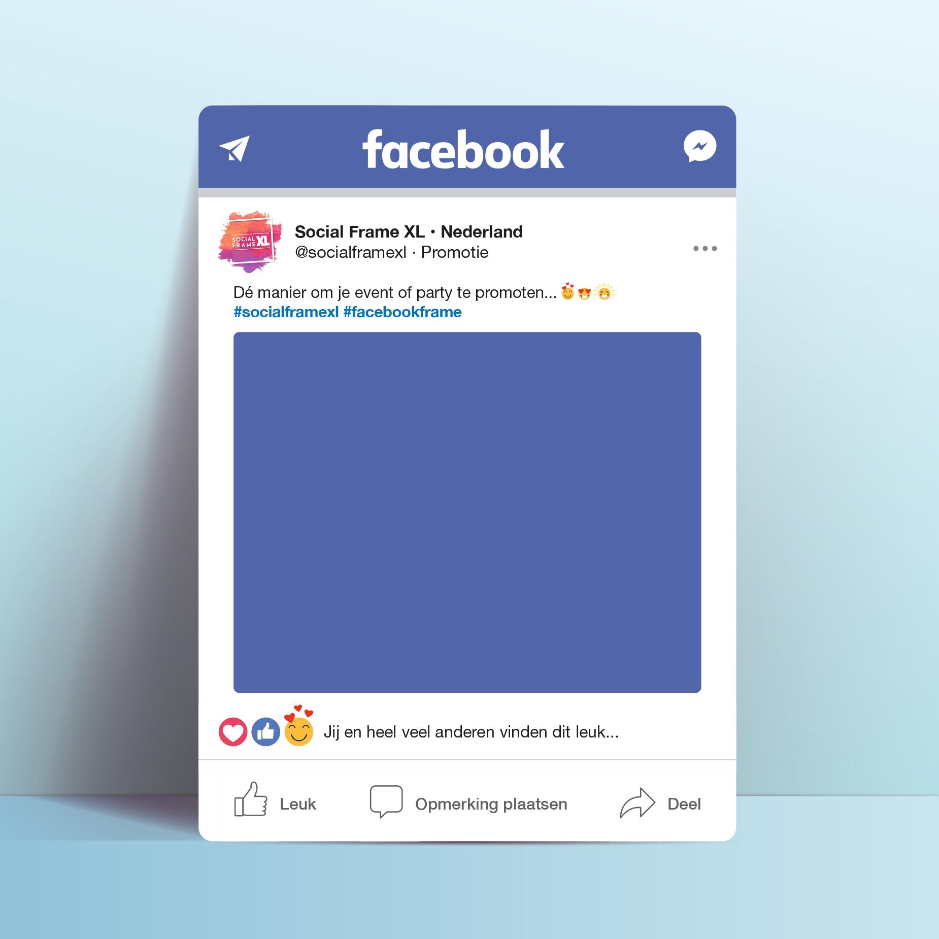 Facebook frame maken - Social media frame maken