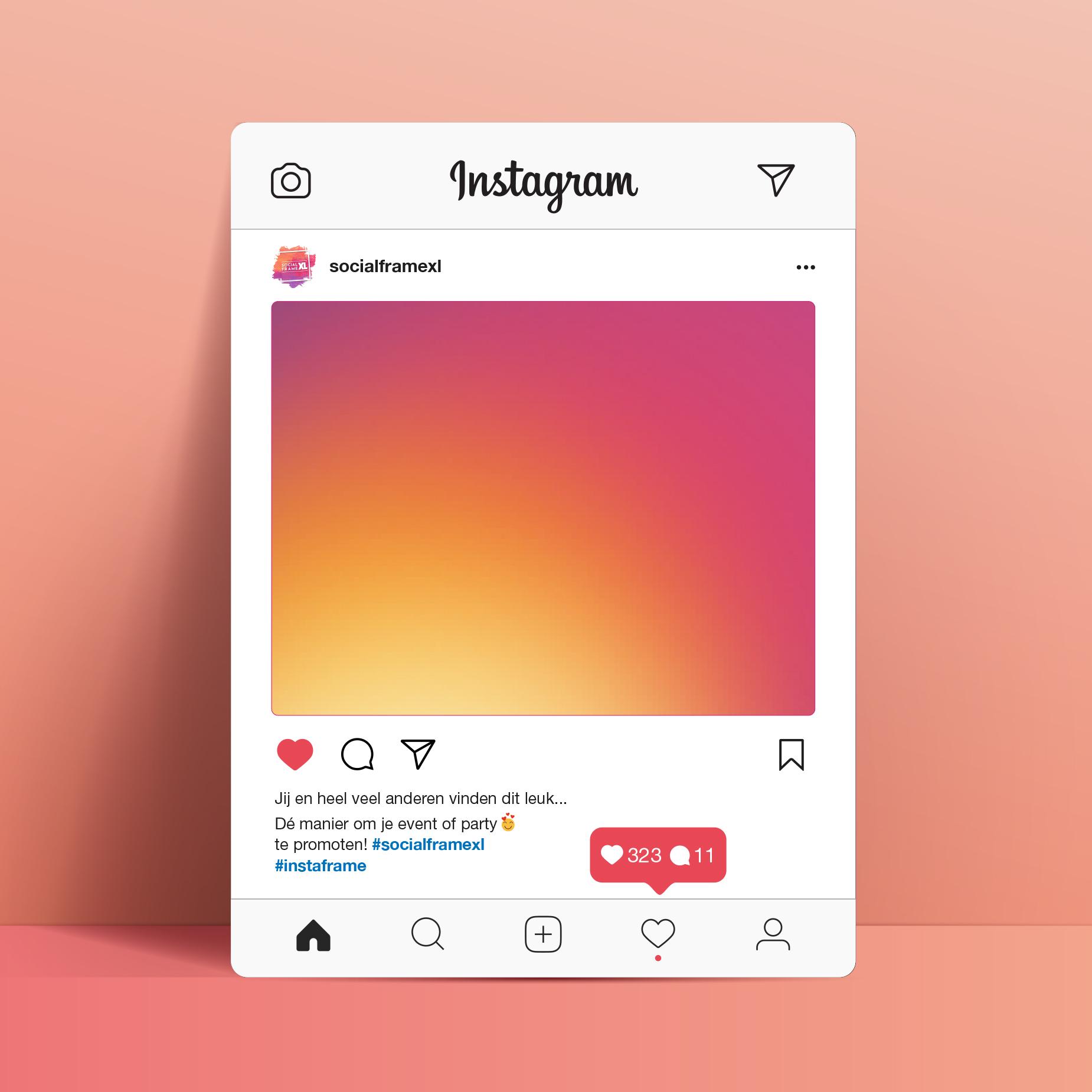 Instagram frame maken - Social media frame maken