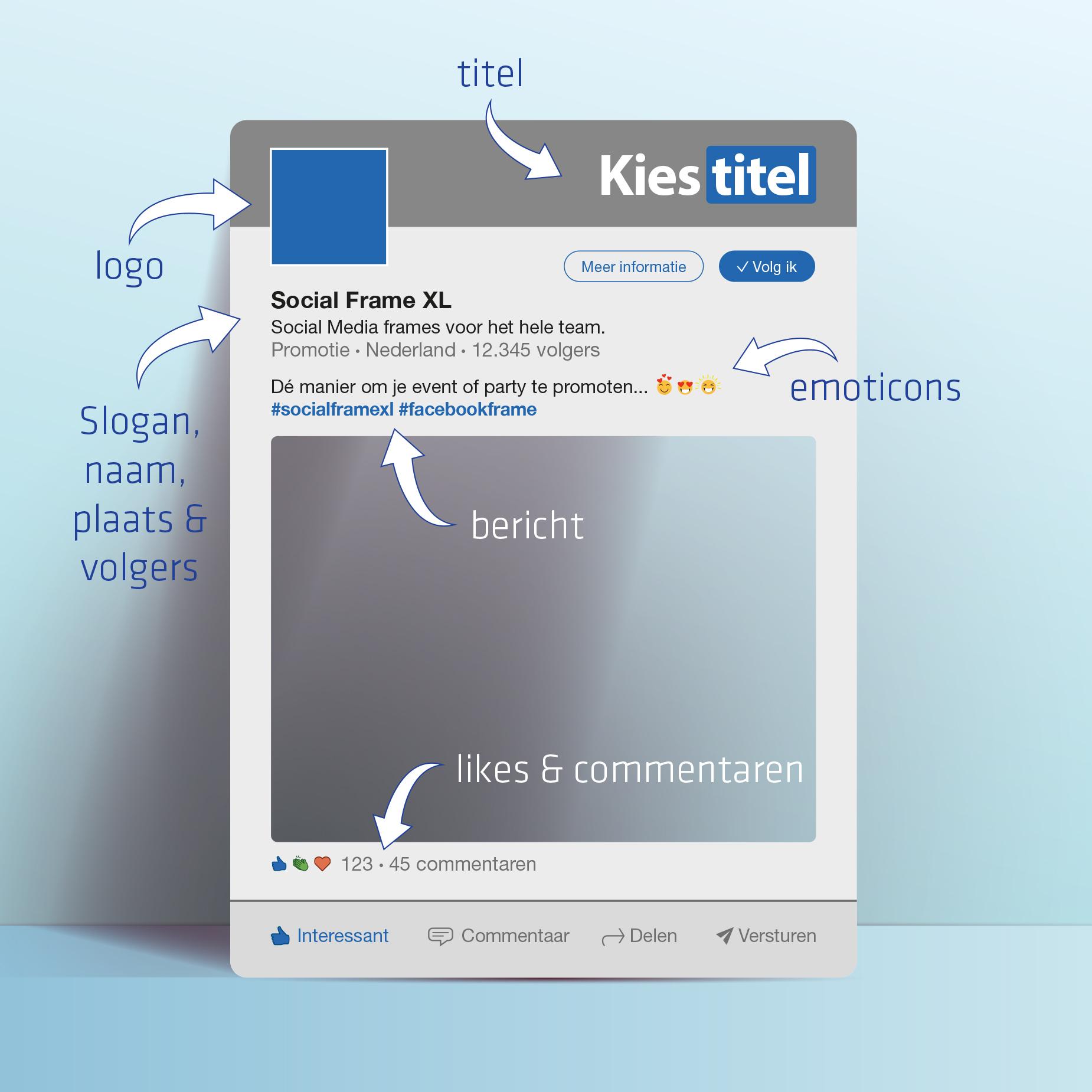 LinkedIn frame maken - Social media frame maken
