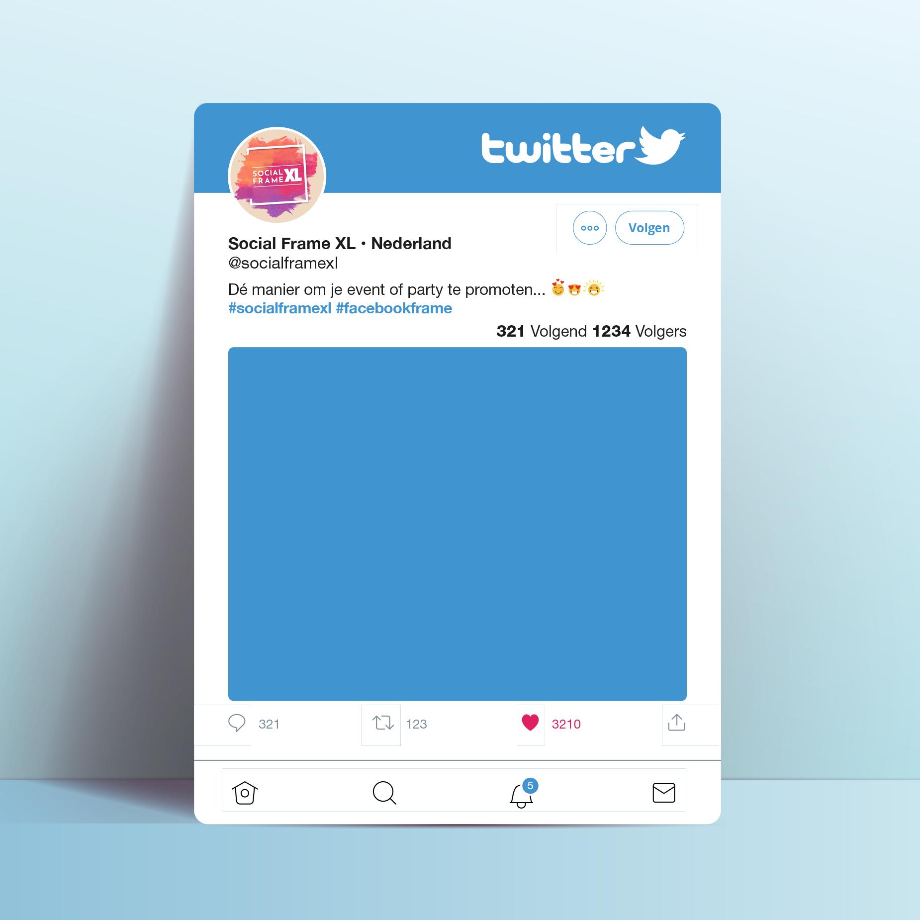 Twitter frame maken - Social media frame maken